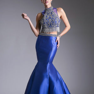 Beaded Bodice 2 Piece Mermaid Dress CD84016